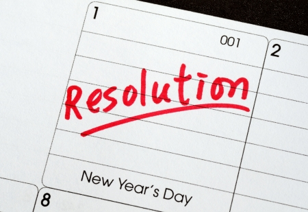 Resolutions for the New Year concepts of goal and objective photo