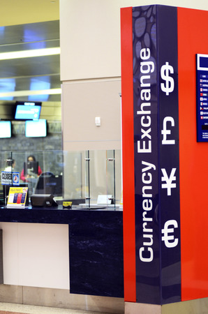Currency exchange concept of travel and spending