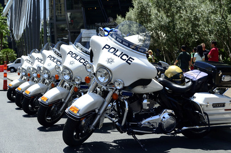 Las Vegas traffic police motorbikes in Nevada