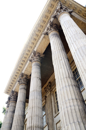 Neoclassical architecture with columns concept of historical building Stock Photo