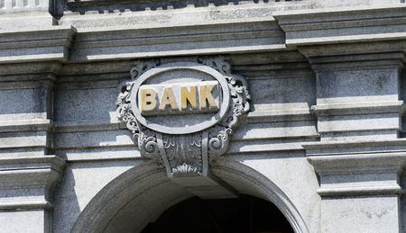 The sign of a Bank concept of banking and business
