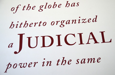 Judicial concept of justice and legal system photo