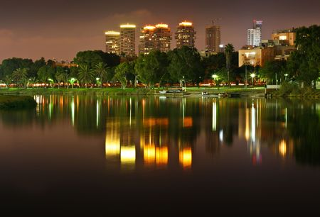 long exposure of the yarkon river in tel aviv photo