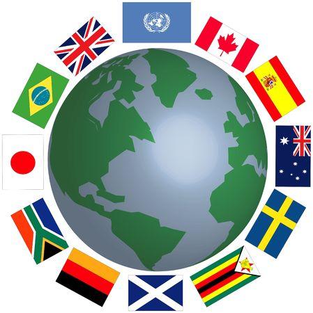Around the world photo