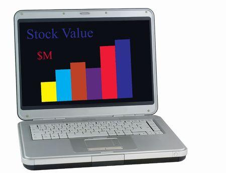 corporate greed: Stocks Rising Stock Photo