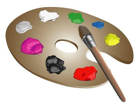 daubs: Artists palette Stock Photo