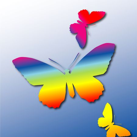 refracted: Rainbow Butterflies