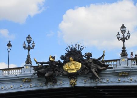 Ornamentation on Paris bridge