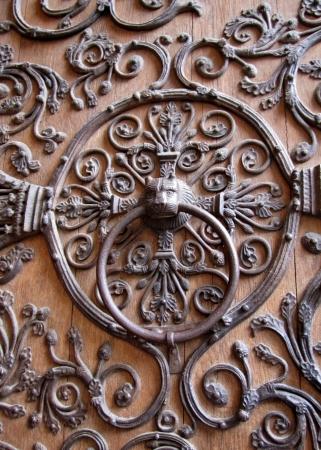 Close up of door knocker