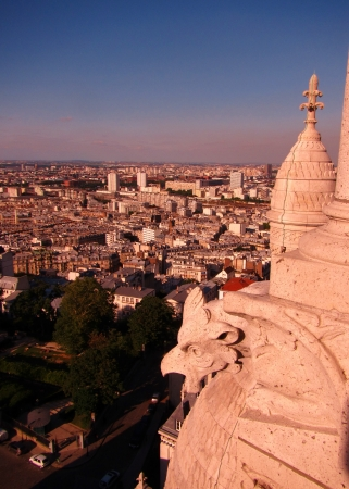 view of Paris from the dome of Sacre-Cour in Montmartre, Paris, France