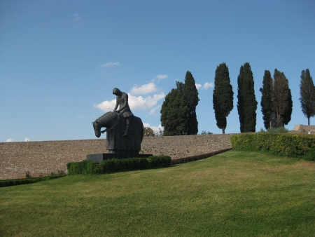 on the grounds of St  Francis of Assisi, Italy photo