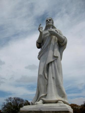 Christ statue in Havanna Cuba Stock Photo