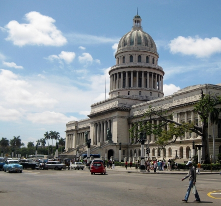 streetscape Havanna with Capitol building Editorial