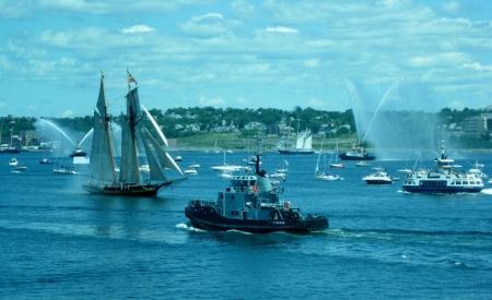 parade of sails, Halifax, Nova Scotia, Canada Banco de Imagens - 15141233