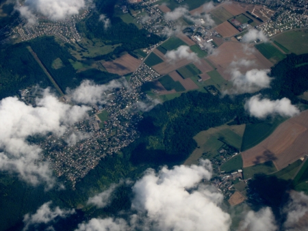 Aerial perspective  Stock Photo