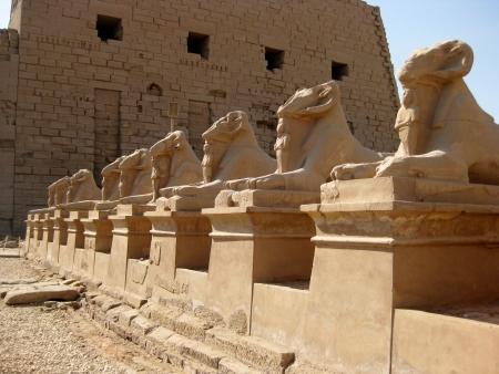 Avenue of the Sphinx 版權商用圖片