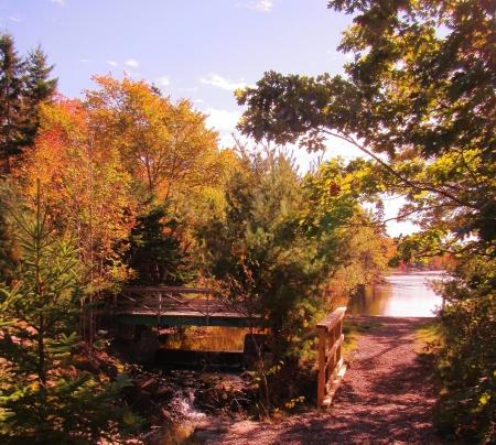 Bridge over the old locks system in Fall River, Nova Scotia, Canada