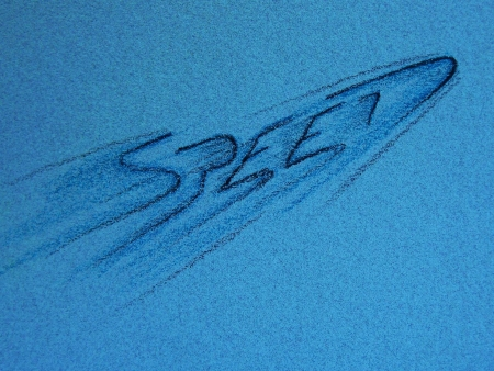 Speed background in blues,