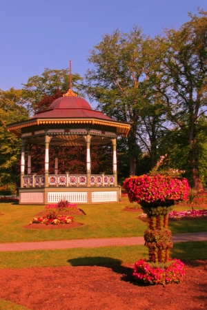 bandstand: Victorian bandstand in Halifax Public Gardens  Stock Photo