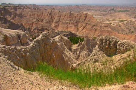 The beautiful geological features of the South Dakota Badlands Stock Photo - 22116398