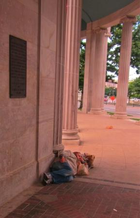 Homeless takes shelter