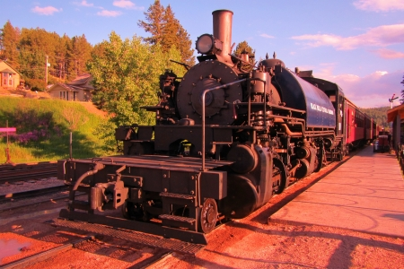 caboose: Old steam locomotive  Stock Photo