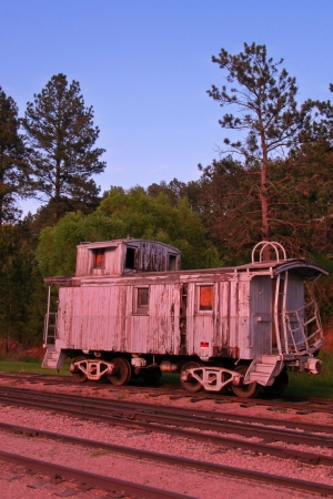 caboose: Old antiquated train
