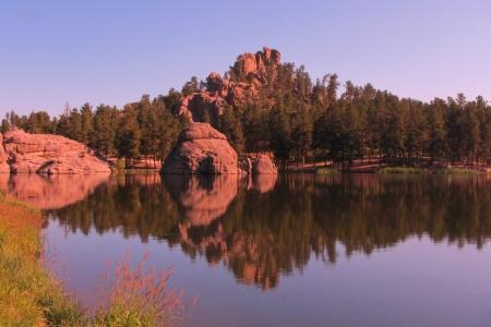 sylvan: Beautiful still waters of Sylvan Lake in South Dakota