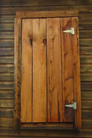 Beautiful wooden country door  Banco de Imagens