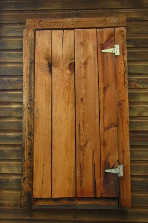 Prachtige houten land deur