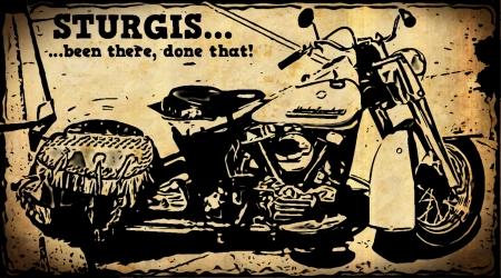 연간 스터지스 모터 사이클 랠리를 축하 오토바이 포스터 스톡 콘텐츠