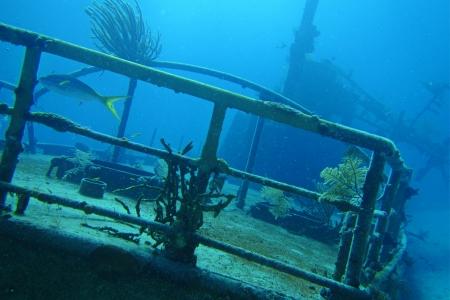 ship wreck: Ship wreak I was scuba diving on  Stock Photo