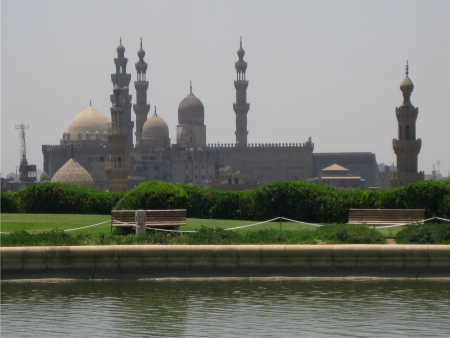 Mosque on the skyline in Cairo Egypt