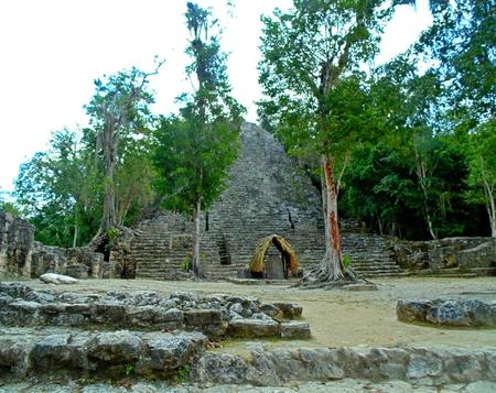 Ruins at Coba, Mexico Stock Photo