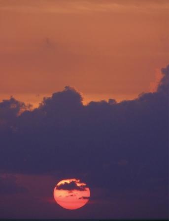 philosophical: Extreme closeup of Carribean sunrise