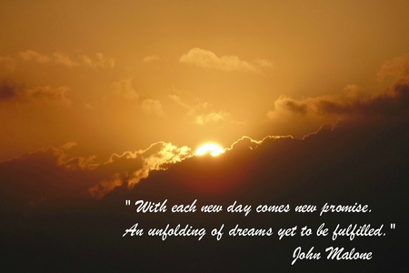 Sunrise in Playa Del Carmen Mexico with inspirational quote I added