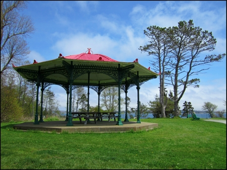 bandstand: Beautiful Bandstand in Point Pleasant Park Halifax