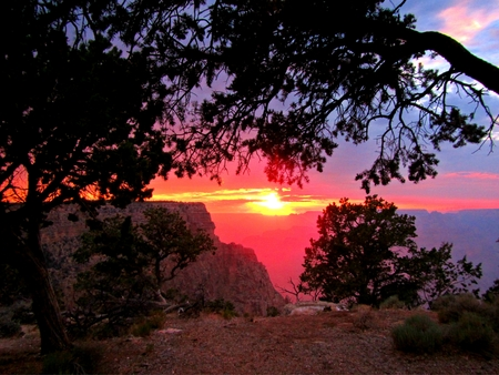 Sunset at the Grand Canyon South Rim