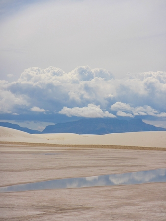 Desert,sky and water in New Mexico Stock Photo