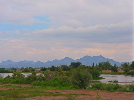 Beautiful Rio Grande river in New Mexico