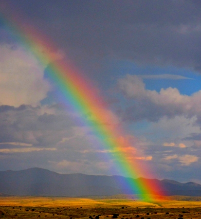 Enhanced rainbow closeup
