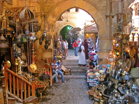 El Khalili Bazaar in old Cairo Egypt Editorial