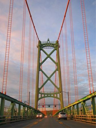 View of Halifax MacDonald Bridge Banco de Imagens
