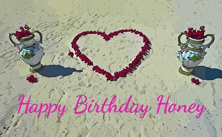 sweethearts: Birthday card graphic design