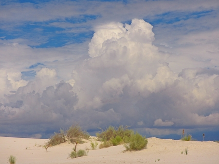 cloud formations: Beautiful cloud formations over sand dune Stock Photo