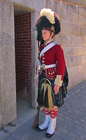 nova scotia: Female animator at Citadel Hill Halifax Nova Scotia Editorial