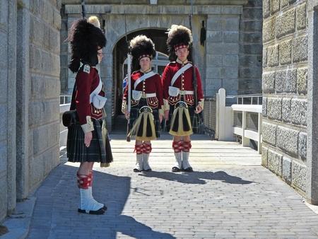 Citadel Hill Halifax Nova Scotia entrance with historic animators Banco de Imagens - 43722563