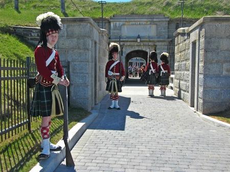 nova scotia: Citadel Hill Halifax Nova Scotia changing of the guard