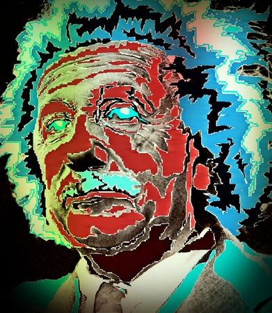 physicists: Graphic design of Albert Einstein Stock Photo