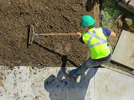 safty: gardening with rake